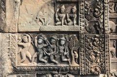 Szczegół stome cyzelowanie przy Baphuon świątynią, Angkor Thom miasto, krzywka Fotografia Stock