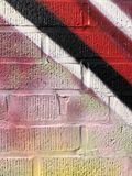 Szczegół styl wolny Malująca ściana obrazy royalty free