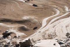 Szczegół Suchy jezioro - suszy pojęcie obrazy stock