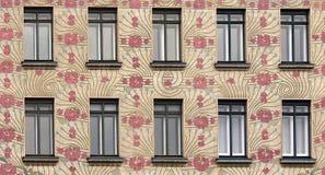 Szczegół sztuki Nouveau dom w Wiedeń, Austria Zdjęcia Royalty Free