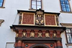 Szczegół Szwajcarska brama przy Cesarskim pałac Wiedeń Austria Wrzesień 2017 Obraz Royalty Free