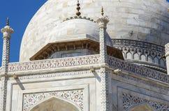 Taj Mahal szczegół Zdjęcia Stock