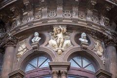 Szczegół teatr na piazza Vincenzo Bellini obrazy stock