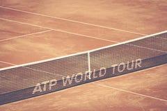 Szczegół tenisowa sieć przy Bucharest BNR areną Fotografia Stock