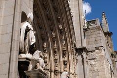 Szczegół Toledo katedra w Hiszpania obrazy stock
