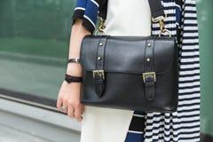 Szczegół torba przy Mediolańskim moda tygodniem Obraz Royalty Free