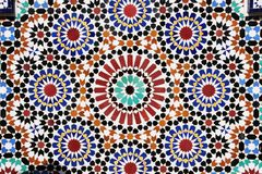 Szczegół tradycyjna marokańska mozaiki ściana, Maroko Obraz Royalty Free