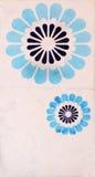 Szczegół tradycyjne płytki od fasady stary dom dekoracyjne płytki Hiszpania tradycyjne płytki ornament kwiecisty Majolika, Wat Zdjęcie Royalty Free