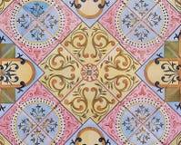 Szczegół tradycyjne płytki od fasady stary dom dekoracyjne płytki Valencian tradycyjne płytki ornament kwiecisty Hiszpania Zdjęcie Stock