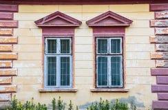 Szczegół tradycyjny Transylvanian dom w Sighisoara zdjęcie stock