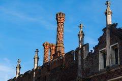 Szczegół Tudor architektury zewnętrzna ściana i dach Zdjęcia Stock