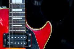 Szczegół używać elektryczna gitara Obraz Royalty Free