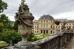 SZCZEGÓŁ WÃœRZBURG pałac NIEMCY, Wrzesień, - 17, 2017: WÃ ¼ rzburg siedziba Obrazy Royalty Free