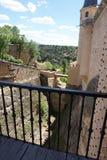 Szczegół wejście most przy Alcazar Segovia kasztel Obrazy Royalty Free
