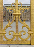 Szczegół Wejściowa brama, pałac Versailles Zdjęcia Stock