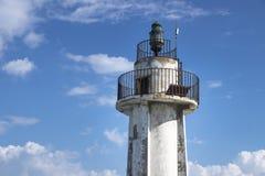 Szczegół wierza stara latarnia morska w oponie, podśmietanie, Liban Obrazy Stock