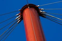 Szczegół zawieszenie most w Drumul Taberei parku obrazy stock