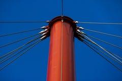 Szczegół zawieszenie most w Drumul Taberei parku obraz stock