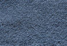 Szczegół zmrok - błękitny Puszysty tkaniny tekstury tło Obrazy Royalty Free