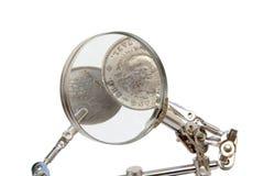 Szczegółowa analiza waluty obrazy royalty free