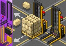 Isometric Forklift w Dwa pozycjach Fotografia Stock
