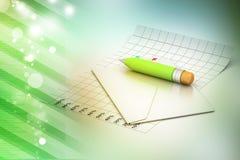 Szczegółowa koperta i ołówek Zdjęcie Stock