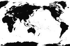 szczegółowa mapa świata, dokładny Obrazy Royalty Free
