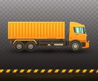 Szczegółowa wektorowa ilustracja dźwignięcie ciężarówka royalty ilustracja