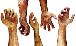 szczegółowe grungy ręce Zdjęcie Royalty Free