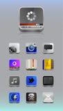 Szczegółowe ikony dla smartphone Obraz Stock
