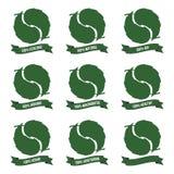 szczegółowego eco ekologiczne środowiskowe wysoce ikony Obraz Royalty Free