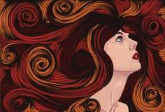 szczegółowego twarzy włosy długa s kobieta Obraz Royalty Free