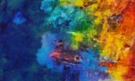 Szczegółowego zakończenia grunge koloru abstrakta wielo- tło Suchy br ilustracji