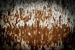 szczegółowej czerepu metalu rdzy ośniedziała nawierzchniowa tekstura Zdjęcia Royalty Free