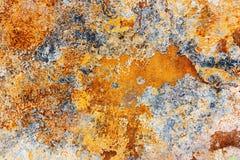 szczegółowej czerepu metalu rdzy ośniedziała nawierzchniowa tekstura obrazy stock