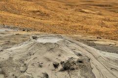 Szczegółowi błotniści volcanoes Zdjęcia Royalty Free