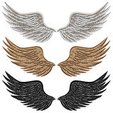 szczegółowi ptaków skrzydła royalty ilustracja