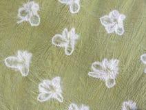 Szczegółowi wzory batikowy płótno naturalny sposób zdjęcie stock