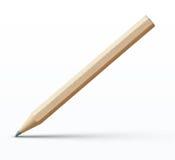 Szczegółowy drewniany ołówek ilustracji