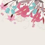 szczegółowy rysunek kwiecisty pochodzenie wektora ilustracja wektor