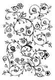 szczegółowy rysunek kwiecisty pochodzenie wektora Obraz Royalty Free