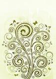 szczegółowy rysunek kwiecisty pochodzenie wektora Obrazy Royalty Free