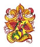 szczegółowy rysunek kwiecisty pochodzenie wektora Ręka rysujący ornament z kwiatami Obrazy Stock