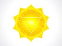Szczegółowy słonecznego plexus chakra Zdjęcia Stock