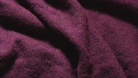 Szczegółowy strzał Burgundy koloru akrylowy płótno w tkaniny robi zakupy zbiory wideo