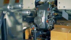 Szczegółowy widok opakunkowa maszyna podczas pracować proces zdjęcie wideo