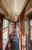Szczegółowy widok pierwsza klasa pasażer, korytarza pociąg Fotografia Stock