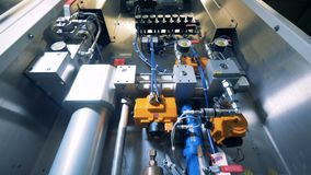 Szczegółowy widok przemysłowy destylarnia mechanizm zdjęcie wideo