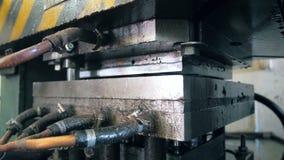 Szczegółowy widok przemysłowy mechanizm w zakończeniu up zdjęcie wideo