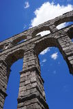 Szczegółowy widok Romański akwedukt Segovia, Hiszpania Zdjęcie Stock